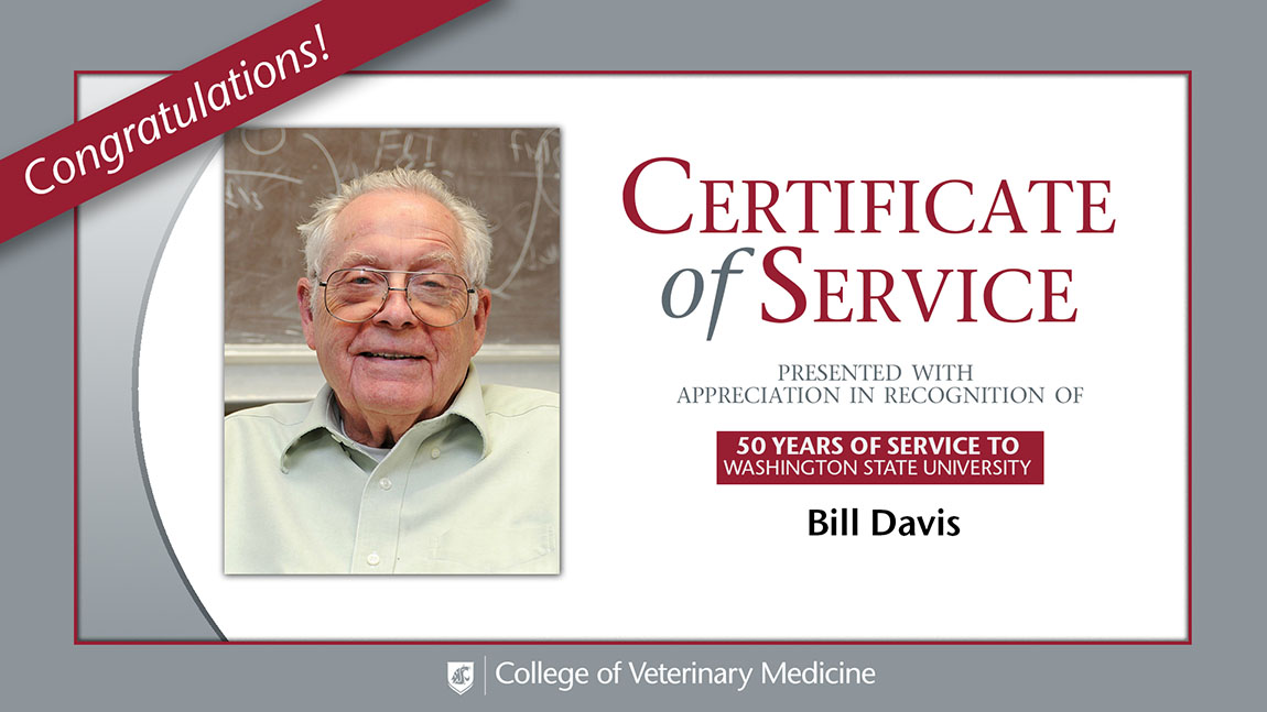 Bill Davis 50 years of service