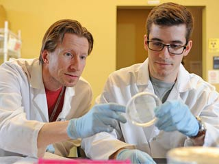 Zach Howard and Anders Omsland in Lab
