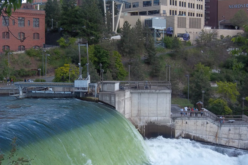 Spokane Falls in Downtown Spokane (Photo by Dana Pride)